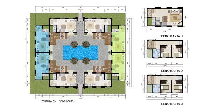 Denah Muse Alesha Pool Villa BSD City